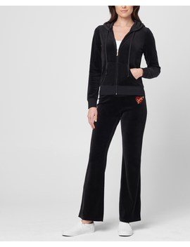 Valentine's Day Heart Velour Del Rey Pant by Juicy Couture
