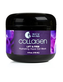 Berry Moon Anti Aging Collagen Mask For Hydration, Dark Spots, And Enlarged Pores. With Rosewater And Coconut Oil. Large 4oz Jar. by Berry Moon