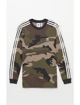 Adidas Camouflage Long Sleeve T Shirt by Pacsun