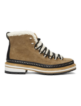 Brown Suede & Shearling Compass Boots by Rag & Bone