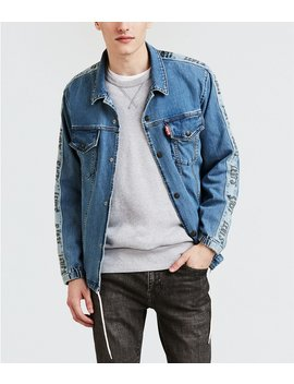 Levi's® Premium Buzzer Beater Track Coach's Trucker Jacket by Levi's