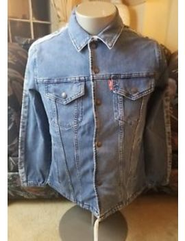Nwt Men's Levi's Blue Denim Track Coach Trucker Jacket Msrp $130 Size Small by Levi's