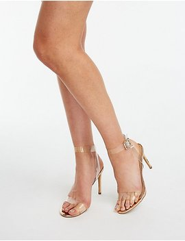 Pvc Ankle Strap Sandals by Charlotte Russe