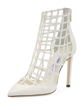 Sheldon Napa Leather Cage Booties by Neiman Marcus