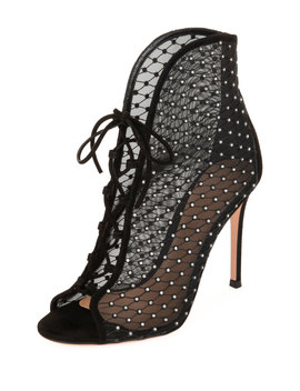Crystal Mesh 105mm Booties by Gianvito Rossi