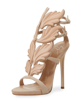 Coline Wings Suede 110mm Sandals by Neiman Marcus