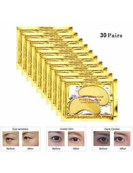Rotus 30 Pairs Gold Eye Mask Power Crystal Gel Collagen Masks, Great For Anti Aging, Dark Circles & Puffiness by Rotus