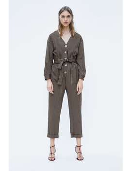 Belted Striped Jumpsuit  View All Dresses by Zara