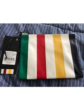 "New W/Tags Hudson's Bay Company Pouch/Make Up Bag Iconic Stripe 8x6x 0.25"" by Hudson's Bay Company"