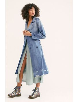 Dorian Denim Trench Coat by Free People