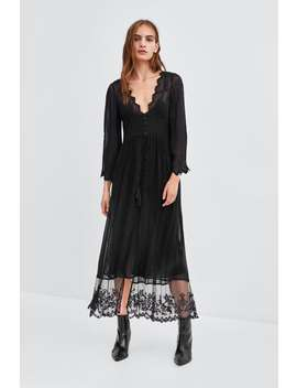 Semi  Sheer Dressing Gown View All Dresses by Zara