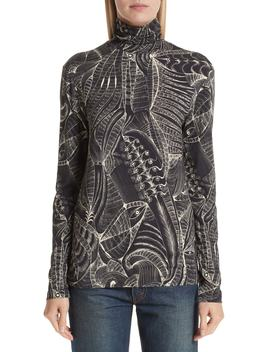 Tattoo Print Knit Top by Dries Van Noten