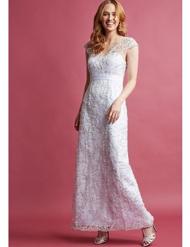 Romantic Revelries Maxi Dress In White by Modcloth