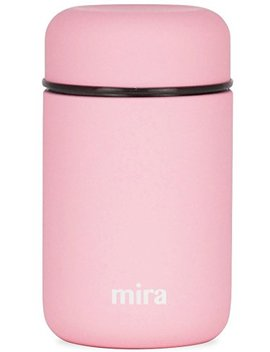 Mira Lunch, Food Jar, Vacuum Insulated Stainless Steel Lunch Thermos, 13.5 Oz, Rose Pink by Mira Brands