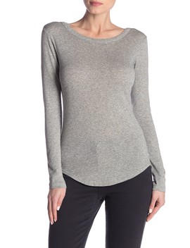 Long Sleeve Shirttail Tee by Vince