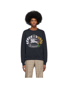 Navy Renshaw Sweatshirt by Burberry