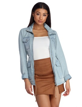 Chill In Chambray Anorak by Windsor