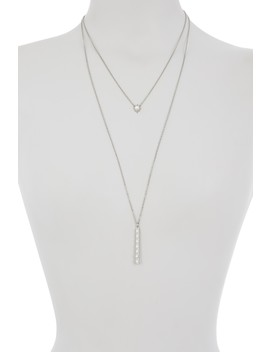 Layered Imitation Pearl Pendant Necklace by Sole Society