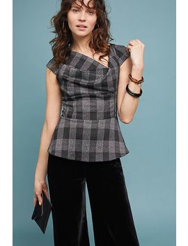Sybil Plaid Top by Eva Franco