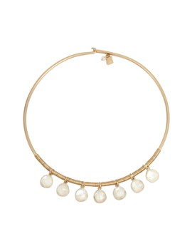 Glass Pearl Fringe Collar Necklace by Robert Lee Morris