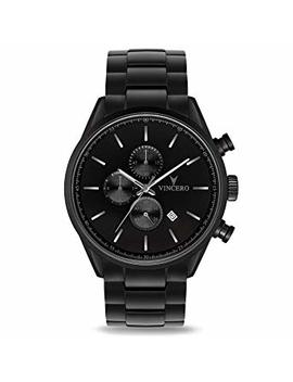Vincero Luxury Men's Chrono S Wrist Watch   Steel Watch Band   43mm Chronograph Watch   Japanese Quartz Movement by Vincero
