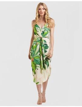 Tropical Palm Print Dress by Amelius