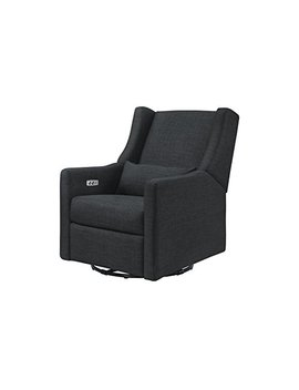 Kiwi Electronic Recliner And Swivel Glider With Usb Port, Coal Grey by Babyletto