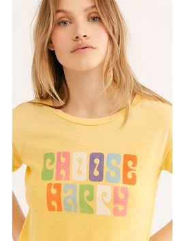 Choose Happy Tee by Free People