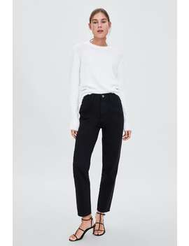 Authentic Denim Mom Fit Jeans  Jeanswoman Sale by Zara