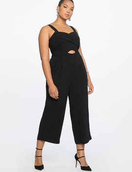 Cross Front Cropped Jumpsuit by Eloquii