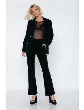 Touch Too Much Velvet Pants by Nasty Gal