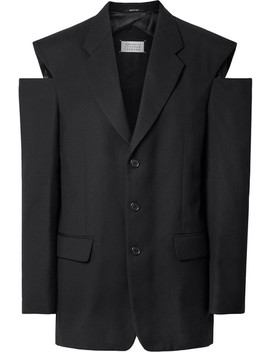 Wollblazer Mit Cut Outs In Oversized Passform by Maison Margiela