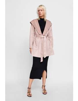 Hooded Coat  Outerwear Starting From 50 Percents Woman Sale by Zara