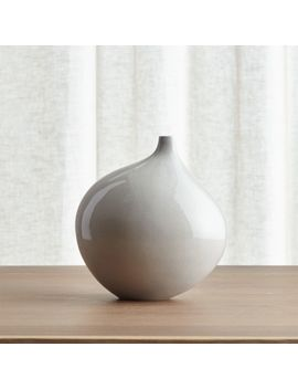 Dove Grey Small Vase by Crate&Barrel