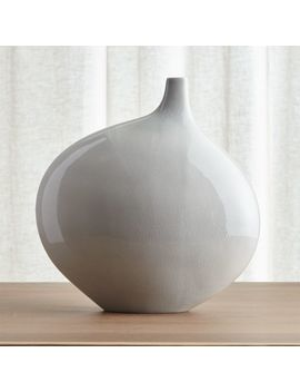 Dove Grey Large Vase by Crate&Barrel