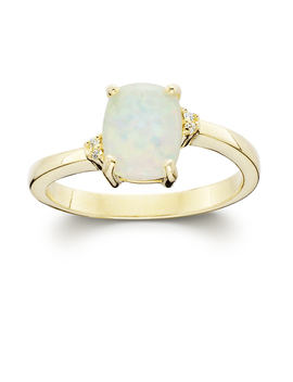 Gold Over Silver Lab Created Opal Cushion Ring Gold Over Silver Lab Created Opal Cushion Ring by