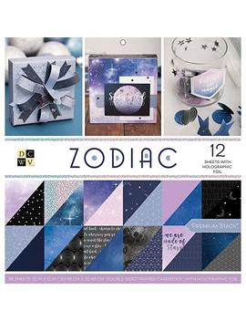 """American Crafts Ps 005 00600 Card Stock Zodiac Premium Printed Cardstock Stack, 12""""X12"""" by Amazon"""