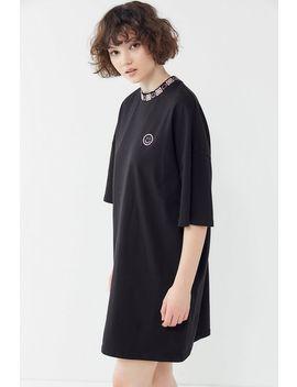 Lazy Oaf Happy Sad Oversized T Shirt Dress by Lazy Oaf