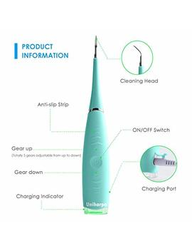 Uniharpa Household Electric Dental Calculus Remover Tartar Scraper Tartar Remover For Fighting Tartar Tooth Stains Teeth Polishing (Blue) by Uniharpa