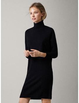 Draped Knit Dress by Massimo Dutti