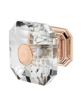 Clubhouse 1 5/16 In. Rose Gold With Clear Crystal Cabinet Knob by Wisdom Stone