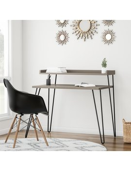 Carson Carrington Bruhagen Sonoma Writing Desk With Riser by Carson Carrington