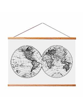 Landmass 17x24 Frame For Scratch Off Map. Magnetic Hanger Frame For Posters And Prints by Landmass