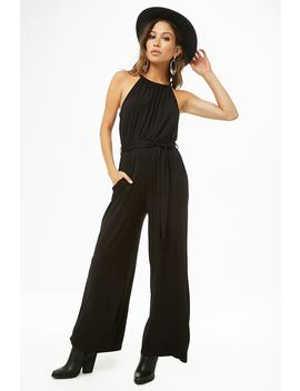 Jersey Knit High Neck Jumpsuit by Forever 21