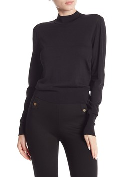 Fitted Mock Neck Pullover by Free Press