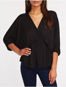 Kimono Sleeve Top by Charlotte Russe