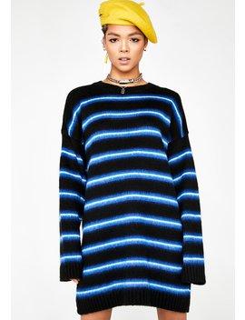 Stripe Brush Knit Dress by The Ragged Priest