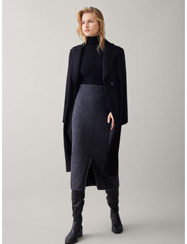 Textured Knit Skirt by Massimo Dutti