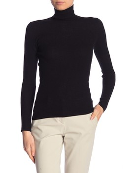 Skinny Rib Cashmere Turtleneck Sweater by Vince