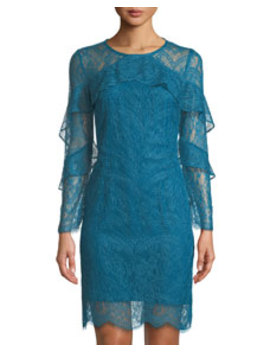 Long Sleeve Lace Shift Dress by Nanette Nanette Lepore